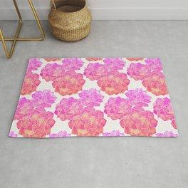 Rosette Succulents – Pink Palette Rug
