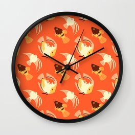 Lava Fish tile Wall Clock