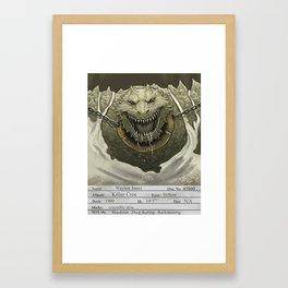 1930s Killer Croc Mugshot Framed Art Print