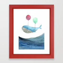 Just be happy Framed Art Print