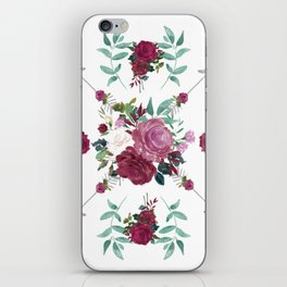Floral Pattern with Arrows iPhone Skin