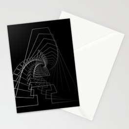 """""""Rail Collection"""" - Abstract Minimal Letter A Print Stationery Cards"""