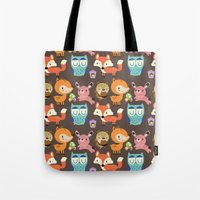 woodland Tote Bags featuring Woodland by Maria Jose Da Luz