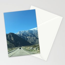 Mountain Snow in Palm Springs California Stationery Cards