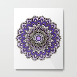 Purple Goddess Metal Print