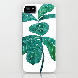 fiddle leaf fig watercolor iPhone Case