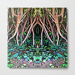 Forest Princess Metal Print