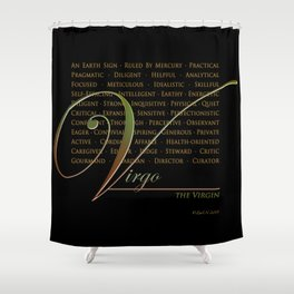 Sign Language for Virgo Shower Curtain