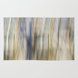 Soft Blue and Gold Abstract Rug