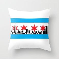New Chicago Flag Throw Pillow
