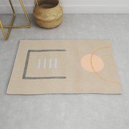 Space in between - Simple minimal earth tones Rug