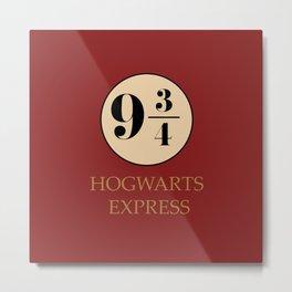 Hogwarts Express - Platform 9 3/4 Metal Print