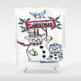 Holly Jolly Christmas Shower Curtain