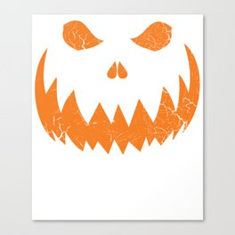 Sinister Distressed Halloween Jack O Lantern Face T-Shirt Canvas Print
