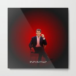 Pierce Brosnan - Celebrity (Oil Paint Art) Metal Print