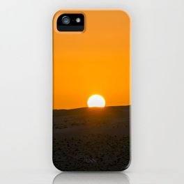 Sunrise in Wahiba Sands desert iPhone Case
