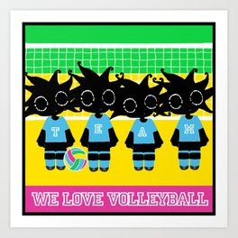 We love Volleyball Art Print
