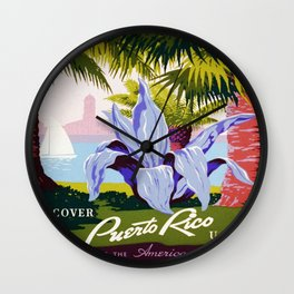 Vintage poster - Puerto Rico Wall Clock