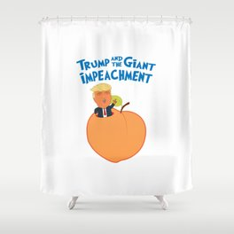 Trump and the Giant Impeachment Shower Curtain