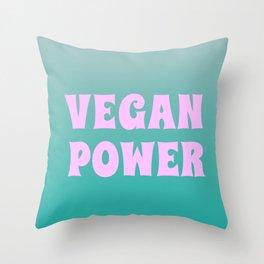 Vegan Power Vegetarian Workout Graphics Throw Pillow