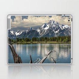 Tree Stump on the Northern Shore of Jackson Lake at Grand Teton National Park Laptop & iPad Skin