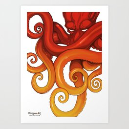 Hexapus Ink 2015 Art Print