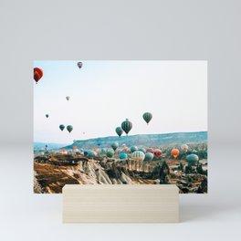 Hot Air Rises | Cappadocia, Turkey Mini Art Print
