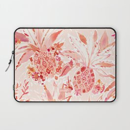 PINEAPPLE JUICE Peach Tropical Floral Laptop Sleeve