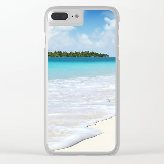 Paradise Ocean #waves Clear iPhone Case