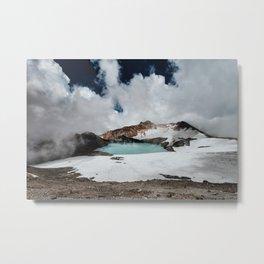 New Zealand Mount Ruapehu Volcano Metal Print