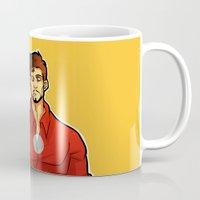 tony stark Mugs featuring Tony by zombietonbo