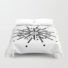 """Flower - The Didot """"j"""" Project Duvet Cover"""