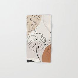 Minimal Abstract Art- Monstera Hand & Bath Towel