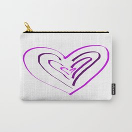 Purple Heartbeats Carry-All Pouch