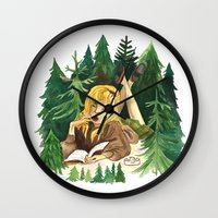 laura palmer Wall Clocks featuring Twin Peaks Secret Diary of Laura Palmer by Lindsey Caneso