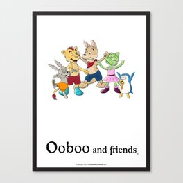 Ooboo and friends Characters Canvas Print