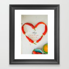 Love is the best spice Framed Art Print