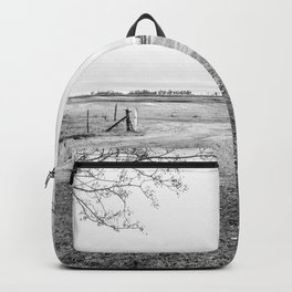 Winter farm day Backpack