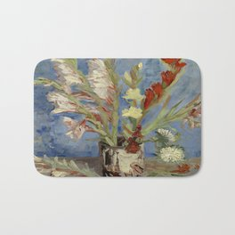 """Vincent Van Gogh """"Vase with Gladioli and Chinese Asters"""" Bath Mat"""
