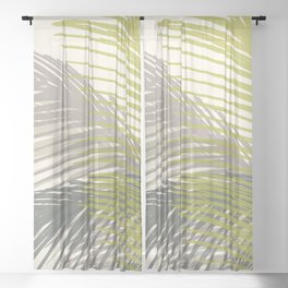 Palm Silhouette Series - Neutral Summer Palette Sheer Curtain