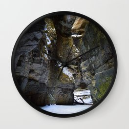 In the depths of Maligne Canyon, Canada Wall Clock