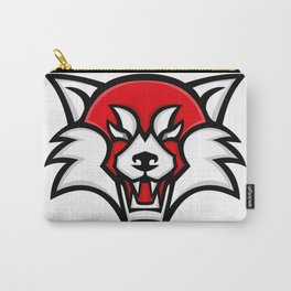 Angry Red Panda Head Mascot Carry-All Pouch