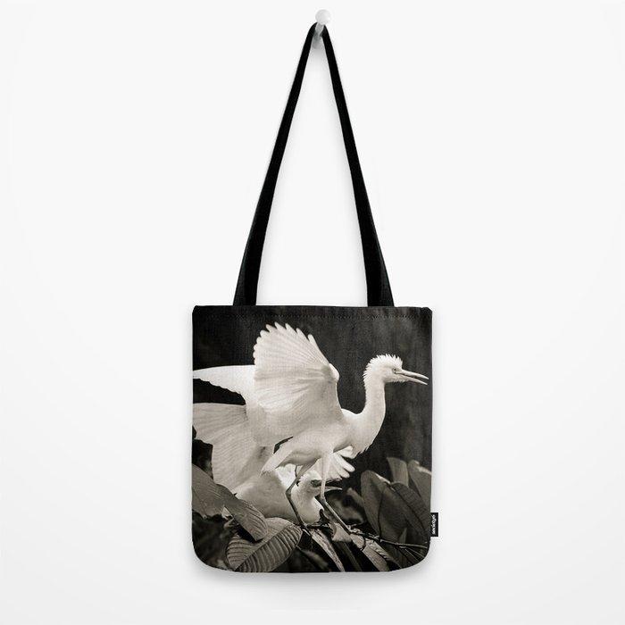 White bird dance 3 Tote Bag