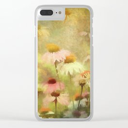 Thoughts Of Flowers Clear iPhone Case