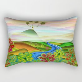 Foggy flower valley Rectangular Pillow