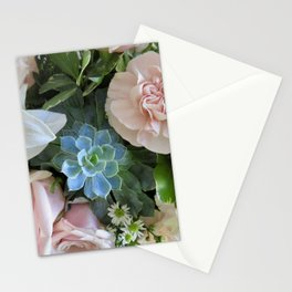 Cactus Surrounded by Beautiful Flowers Stationery Cards