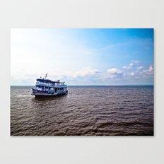 Amazon river boat Canvas Print