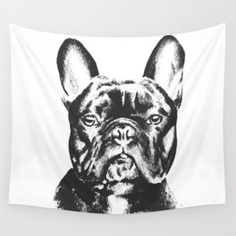 Black And White French Bulldog Sketch Wall Tapestry