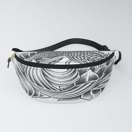 Koi and Lotus - Courage and Beauty Fanny Pack
