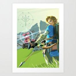 Breath of the Wild - Legend of Zelda Art Print